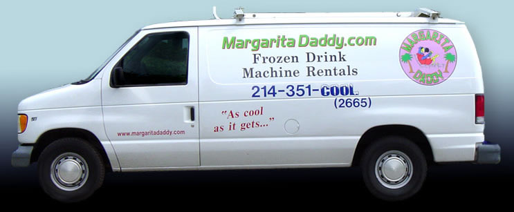 the margarita daddy delivery van - when you see us pull up, it's time to party!